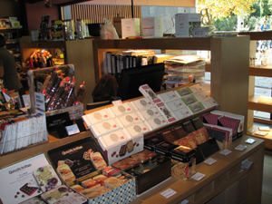 Artisan chocolates on display at Alícia's gourmet store - Photo by Angel Romero