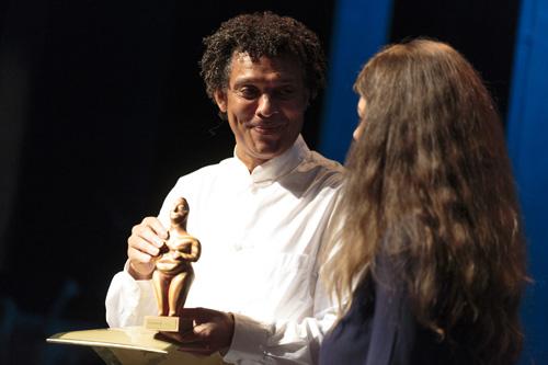 Mário Lúcio Sousa (Cape Verde) recipient of the WOMEX 2014 Professional Excellence Award - Photo by