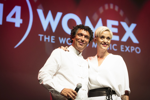 Mario Lucio and Mariza at WOMEX 2014 Award Ceremony  - Photo by by Jacob Crawfurd