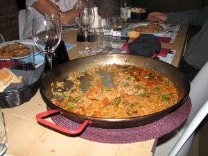 arros de muntanya (mountain rice) with butifarra sausage and vegetables - Photo by Angel Romero