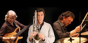 From left to right Carles Benavent, Jorge Pardo and Tino Di Geraldo