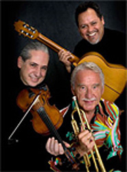 Doc Severinsen (trumpet), Gil Gutierrez (classical guitar) and Pedro Cartas  (violin).