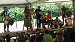 Percussion workshop at Penang World Music Festival