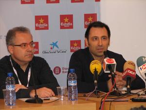 Fira Mediterrania de Manresa 2013 press conference with general manager Jordi Bertran (left) and artistic director David Ibáñez (right) - Photo by Angel Romero