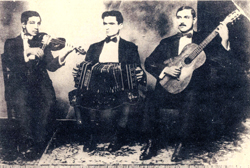 Tango musicians, 1918