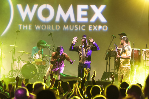 Tribu Baharu WOMEX 2014 showcase - Photo by Jacob Crawfurd